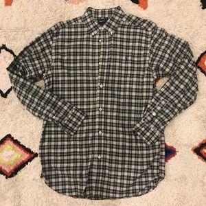 RL Navy Plaid Long Sleeve Button Down Shirt XL